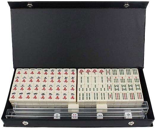Puzzle Chino Mahjong portátil de Viaje Mini Juego ambientado 144 fichas Mah-Jong Juegos Familiares Juegos de Mesa Desde 1405: Amazon.es: Hogar