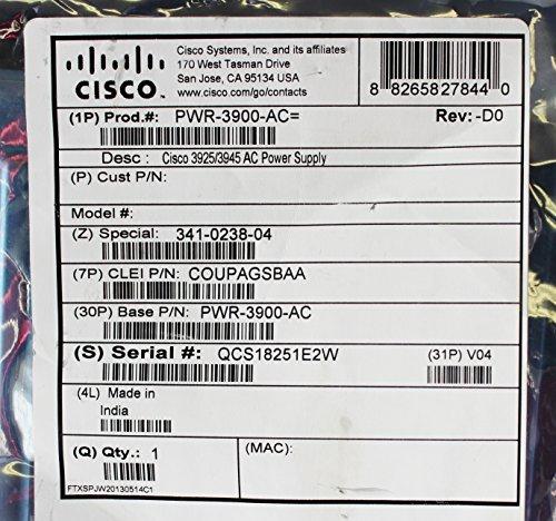(Cisco PWR-3900-AC 3925/3945 AC Power Supply)