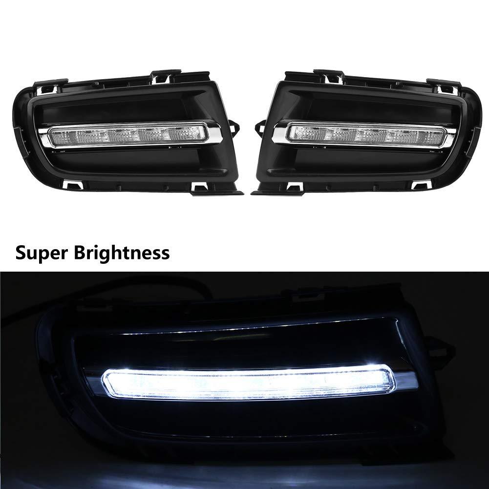 Brillo alto 1 par de luces de circulaci/ón diurna L/ámpara de niebla diurna LED DRL para coche para Ma-zda 6 06-09