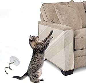 UYTGB Cat Furniture Protector,Cat Scratch Deterrent Anti Scratch Cat Tape,Pet Couch Protector Cat Repellent Clear Self-Adhesive Cat Training Tape for Furniture,Sofa,Wall,Leather-3 pcs(6