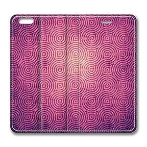 Brain114 6 Plus, iPhone 6 Plus Case, iPhone 6 Plus 5.5 Case, Purple Texture PU Leather Flip Protective Skin Case for Apple iPhone 6 Plus 5.5