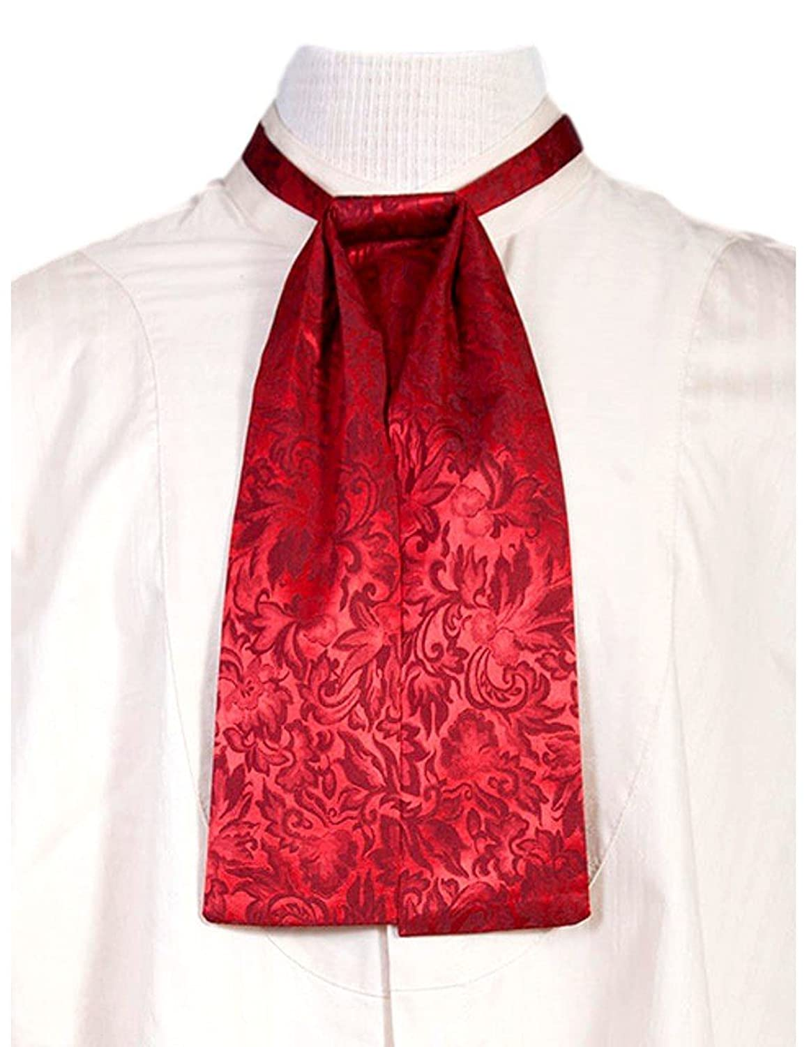 Victorian Mens Ties, Ascot, Cravat, Bow Tie, Necktie Old West Silk Puff Tie - 535300-Tau $39.95 AT vintagedancer.com