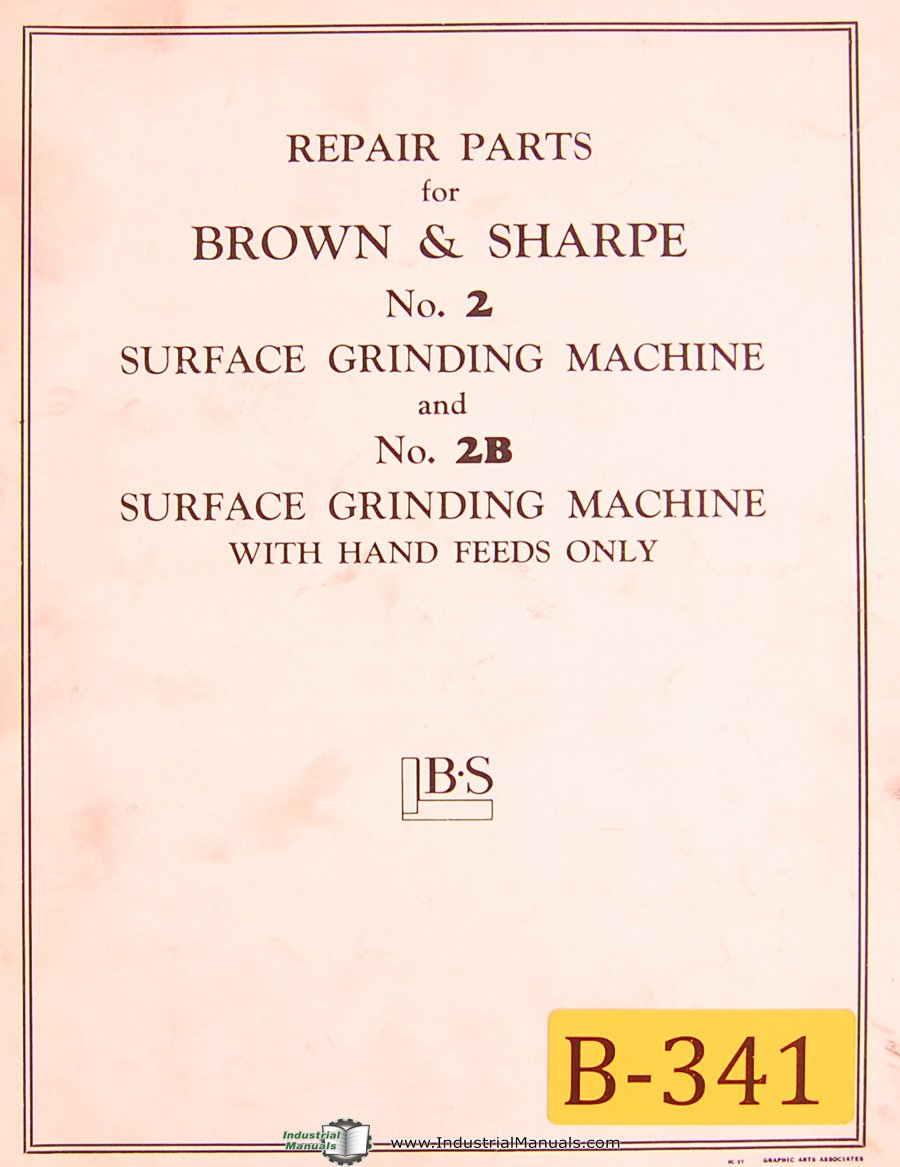 61RV82MJgrL brown & sharpe no 2 & 2b, surface grinder, repair parts list Brown and Sharpe Surface Grinder 510 at bakdesigns.co