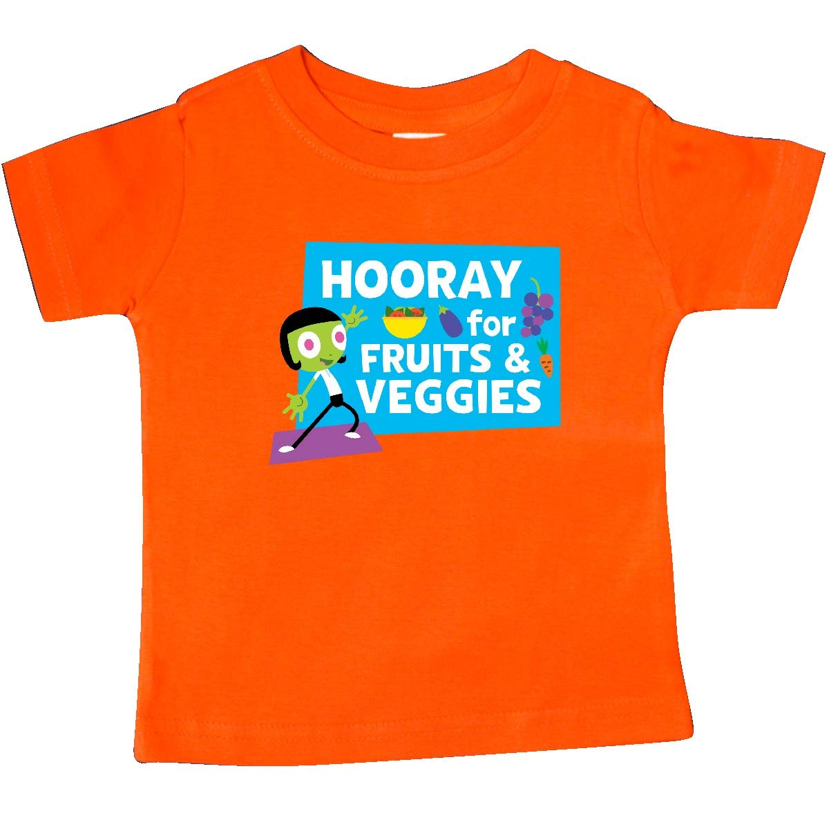 inktastic Hooray for Fruits and Veggies with Dot Baby T-Shirt PBS Kids