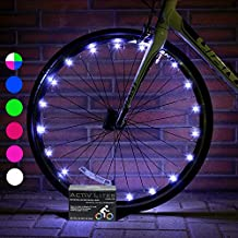 Super Cool LED Bike Wheel Lights with BATTERIES INCLUDED! Visible From All Angles for Ultimate Safety and Style (1 Tire Pack) from Activ Life
