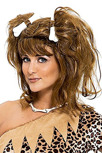 Paper Magic Bee-cee Cavegirl Wig, Brown, One (Cavegirl Wig)