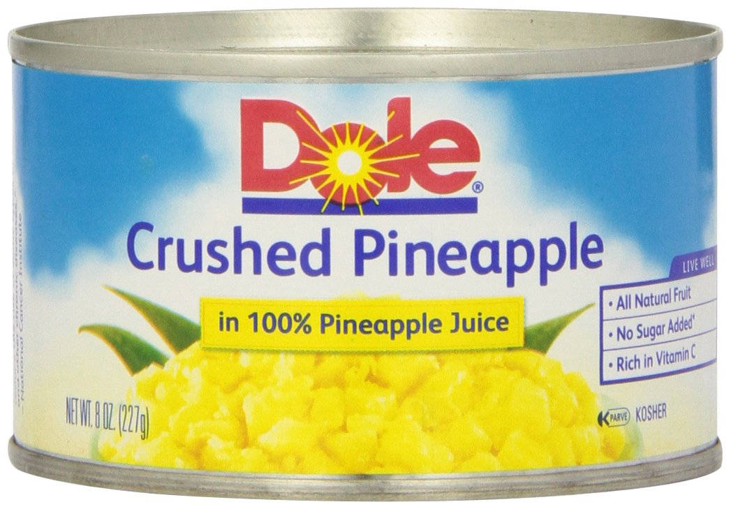Dole, Pineapple Crushed in Juice, 8 Oz