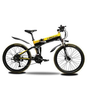 MTB Bicicleta de montaña ExtrbiciXT750 Hombres 17 x 26 pulgadas plegable bicicleta eléctrica montaña 500 W