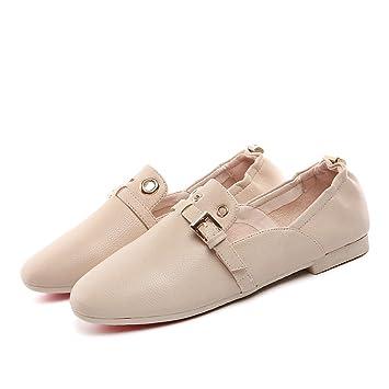 HAIZHEN Ladies Girls Botines Zapatos de mujer PU Summer Fall Comfort Flats talón plano redondo Toe