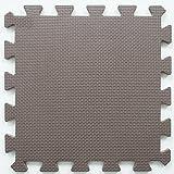 Menu Life 10-tile Multi-color Exercise Mat Solid Foam EVA Playmat Kids Safety Play Floor, Coffee