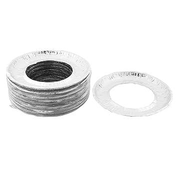 uxcell aluminio Foil forma redonda, hogar estufa quemador de gas babero forro cubre 80 pcs: Amazon.es: Coche y moto