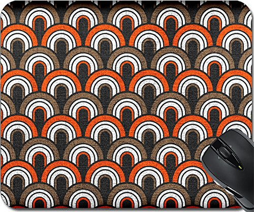 MSD Natural Rubber Mousepad Mouse Pads/Mat design: 34870139 Retro Fifties Painted Canvas - Futuristic Style 50s