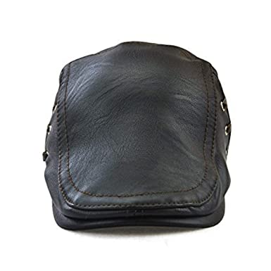 4ae030ac5fac2 JAMONT Plain Leather Baseball Cap and Hat with Adjustable Strap for  Men Women Relaxed Outdoor