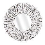 Imax 10439 Sadie White Wooden Mirror, 36″ x 36″ x 1.5″