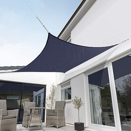 Kookaburra Waterproof Blue Sun Shade Sail Garden Patio Gazebo Awning Canopy 98 UV Block