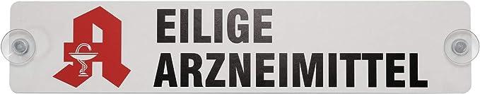 Eilige Arzneimittel Schild Mit Saugnapf Apotheke 40 X 8 Cm 1 1mm Green Baumarkt