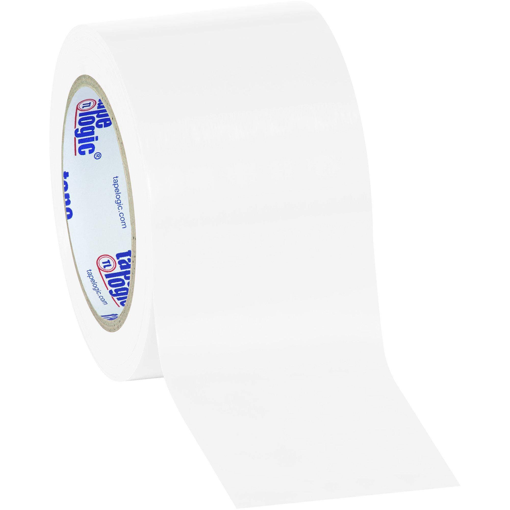 Tape Logic TLT9336W Solid Vinyl Safety Tape, 6.0 Mil, 3'' x 36 yds, White (Pack of 16)