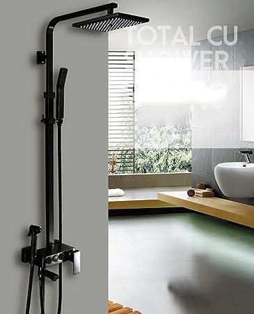 Zxy Home Bad Antik Kupfer Dusche Wasserhahn schwarz nehmen Sie eine ...