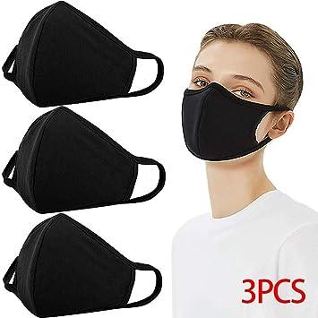3PCS Reusable Bandana Face Dust Washable Protection Cloth Elastic String Cover Cycling Motorcycle Cotton Half Balaclava