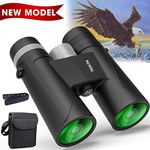 Compact Binoculars for Adults – High Power 12×42 Roof Prism Binocular with Low Light Night Vision,Waterproof Fogproof Binoculars for Bird Watching,Travel,Hunting,Wildlife,Concert