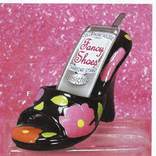 In Sights Fancy Shoes Ceramic Cell Phone Stand - Heidi
