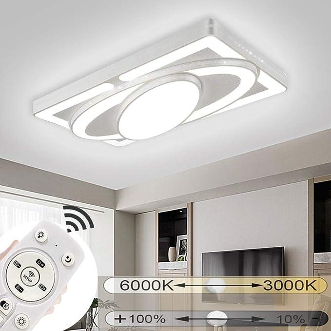 dimmbare LED Decken Lampe edle Wohn Zimmer Flur Leuchte Nachtlicht Fernbedienung