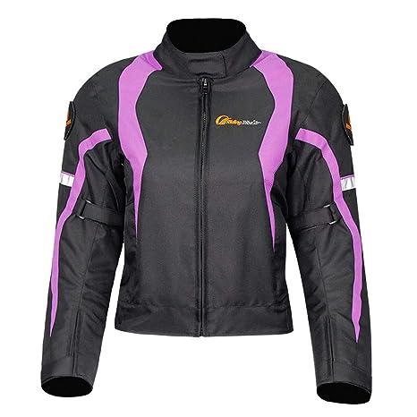 Amazon.com: Chaqueta de moto para mujer, de invierno, cálida ...