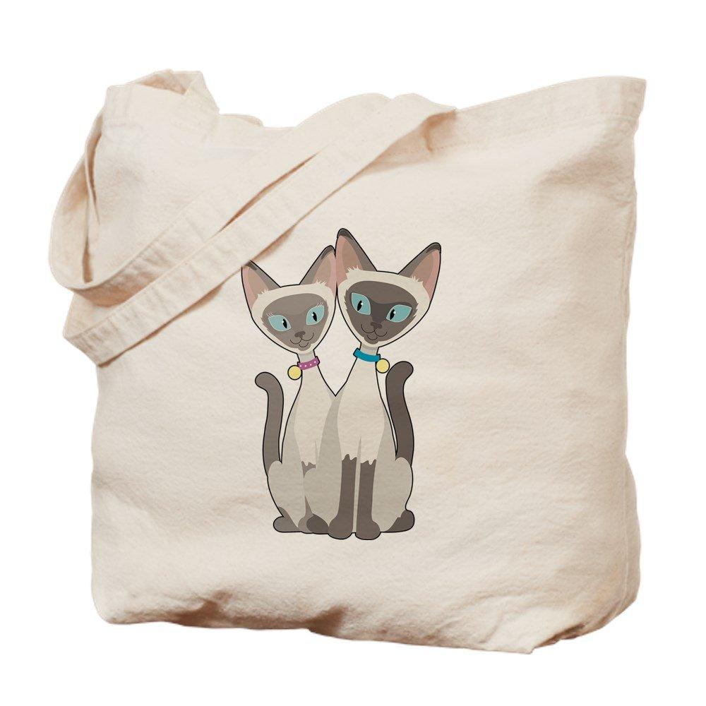 CafePress – Siamese cats – ナチュラルキャンバストートバッグ、布ショッピングバッグ M ベージュ 12925573556893C B00WJEIDQS MM
