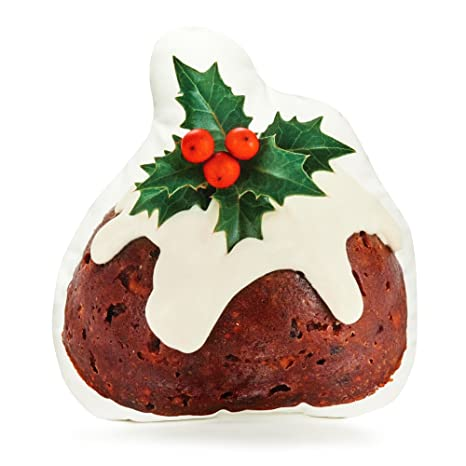 """Amazon.com: Cojín Co – Christmas Pudding – Almohada 16"""" ..."""