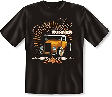Lässiges Shirt mit Hot Rod US-Car Motiv! Moonshine Runner T-Shirt im  Vintage Style: Amazon.de: Bekleidung