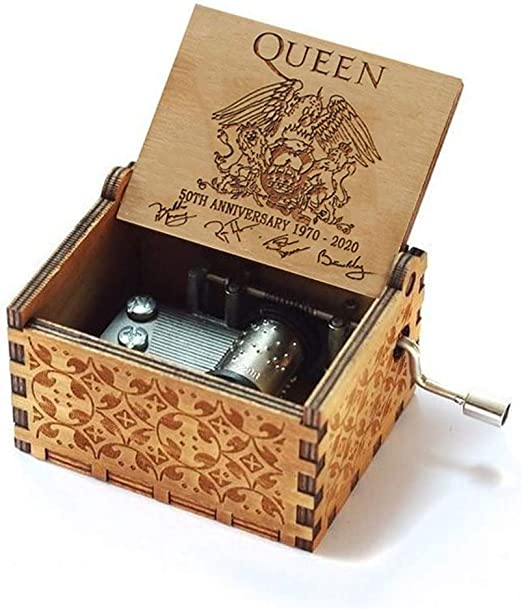 Cuzit Caja de Música Reina 50 Aniversario 1970-2020 Caja Musical con los mejores éxitos de la reina tema caja de música de madera mejor regalo para niños, amigos: Amazon.es: Hogar