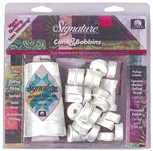 Quilting Bobbin (American and Efird Quilting Cone and M Bobbin Pack Signature Machine)