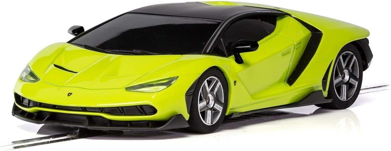 Scalextric C3957 Lamborghini Centenario Lime 1:32 Slot Race Car Green
