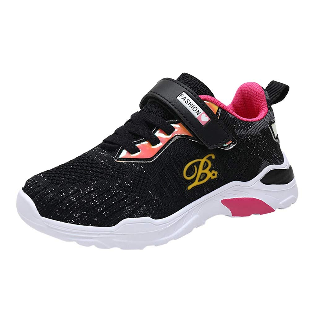 3-10Year Infant Girls Boys Letter Mesh Sport Run Solid Sneakers Casual Shoes