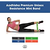 AADHISHA ® Premium Resistance Loop Mini Band - Set of 4 Bands with Carrying Bag