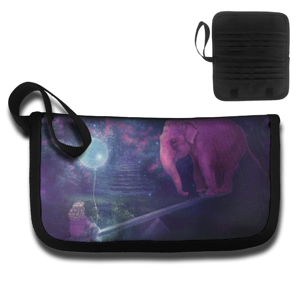 Elephant Playing With A Girl With A Seesaw Travel Passport /& Document Organizer Zipper Case