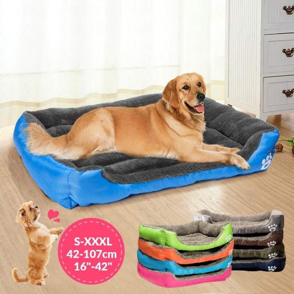 CLIN Mascota Perro Gato Cama para Dormir Cachorro Suave Cojín Casa Invierno Cálido Perrera Perro Matt Padst S/M/L/XL/XXL/XXXL Negro XL: Amazon.es: Productos para mascotas
