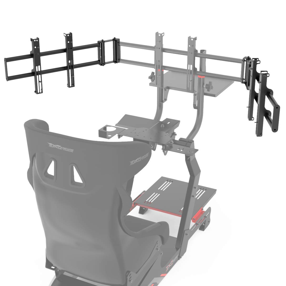 Extreme Sim Racing Triple Screen Tv Stand Add-on Upgrade for Cockpit P1 3.0 / Virtual Experience 3.0