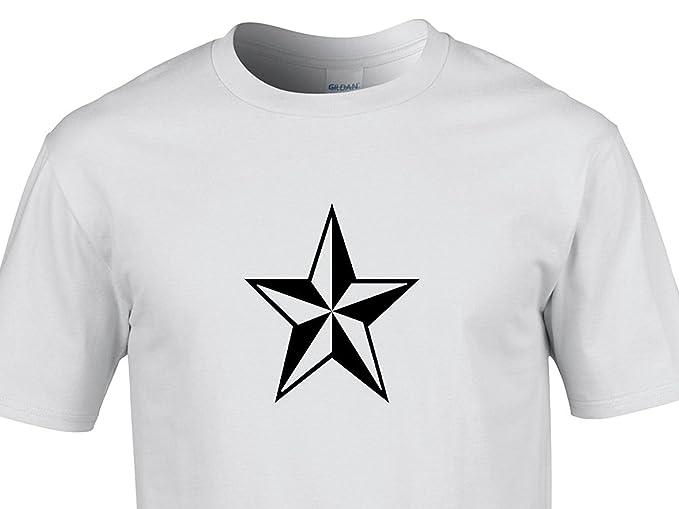 Para hombre cool diseño de estrellas camiseta de ilusión óptica ... aad947dbc77ff