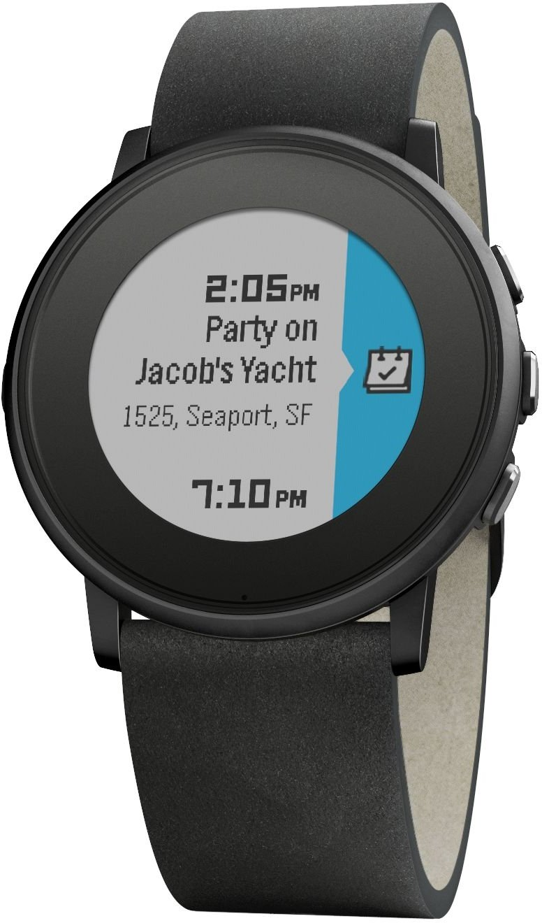 62c282a171f772 Amazon.com: Pebble Time Round 20mm Smartwatch for Apple/Android Devices -  Black/Black: Cell Phones & Accessories