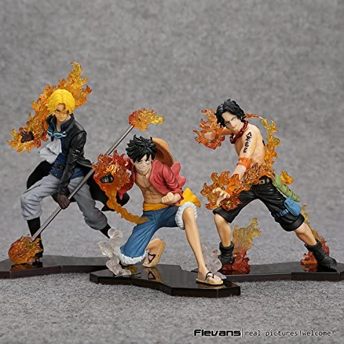 Amazon.com: Nime una pieza ataque estilo Luffy + Sabo + Ace ...