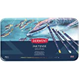 Derwent Colored Pencils, Inktense Ink Pencils, Drawing, Art, Metal Tin, 72 Count (2301843)