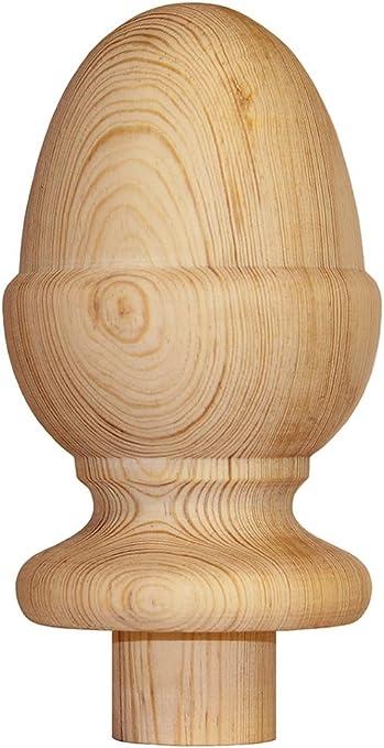 Pomo para pilastra de escalera con forma de bellota, madera de pino: Amazon.es: Bricolaje y herramientas