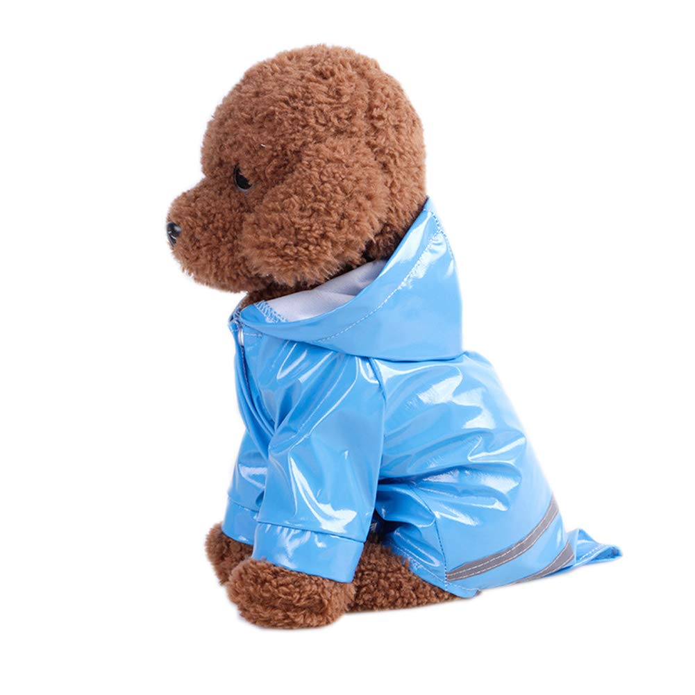 S, Nero E-db Cane Impermeabile Animale Impermeabile Rainwear cappuccio cappotto parapioggia Puppy Dog Raincoat Slicker sicurezza impermeabile Rain giacca copertura per Large Medium Small Dog