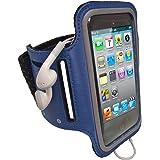 iGadgitz Blue Reflective Anti-Slip Neoprene Sports Gym Jogging Armband for Apple iPod Touch 2nd, 3rd & 4th Generation 8gb, 16gb, 32gb & 64gb