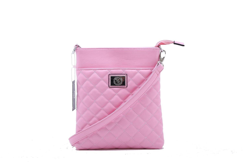 Designer Inspired Quilted Pink Fashion Side Bag