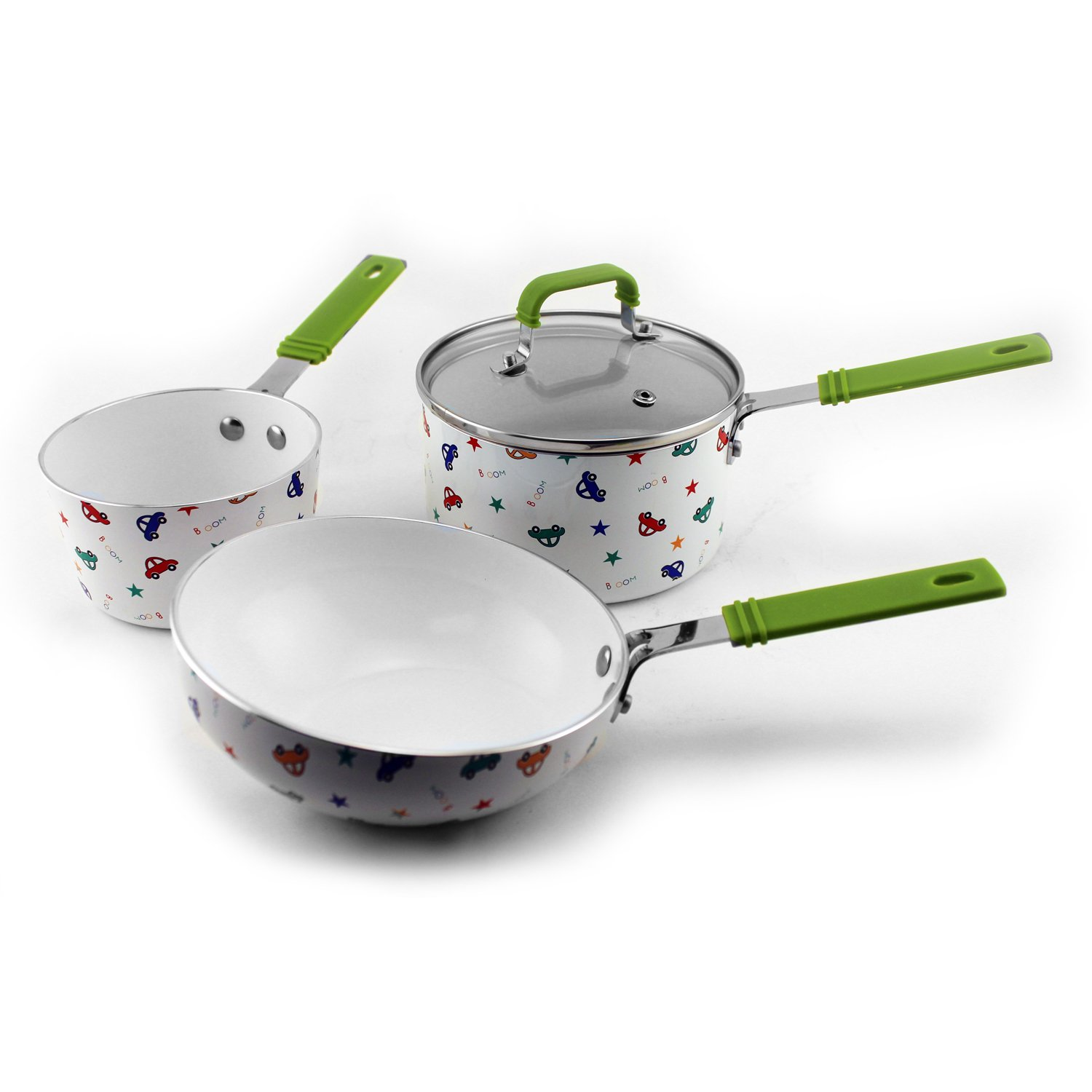 BergHOFF 2211438 Children's Line Cookware Set-Boys, Multicolored