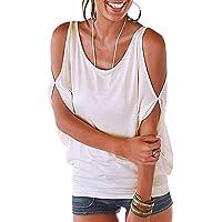 iMixCity Verano Camisas De Hombro Frío Blusas Tops del Batwing Camisetas sin Mangas Camiseta Casual Camiseta para Mujer