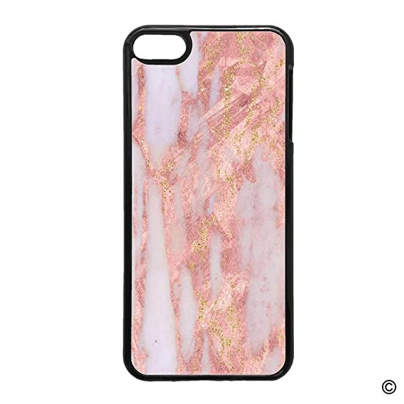 brand new e0c50 9817d Amazon.com: MsMr iPod Touch 6 Case Gold And Pink Marble Protective ...