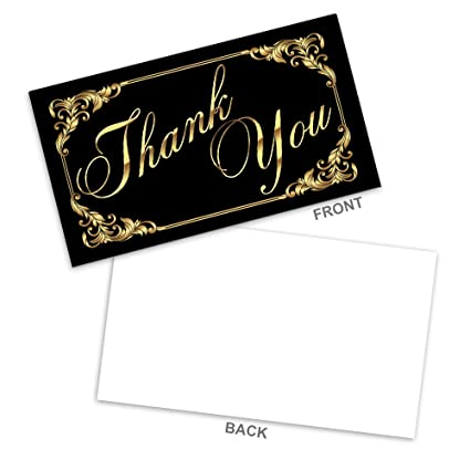 amazon com thank you note cards business card size with high